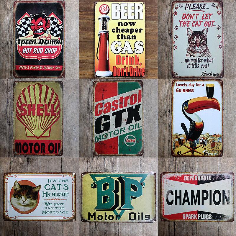 Tin Metal Sign Plaque Bar Pub Vintage Retro Wall Decor