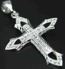 50 CENT Kreuz*Cross*echt 925 Silber*Stempel*Zirkonia Diamanten*PLAYAZ 70mm