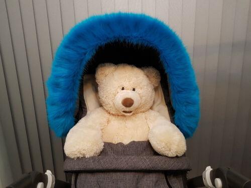 Pram Hood Fur Trim Fits All Hoods Over 50 Colours Pram Furs
