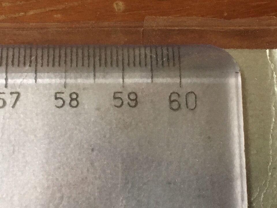 60 cm lang Lineal