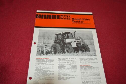 Case 2294 Tractor Dealer/'s Brochure AG76385 LCOH
