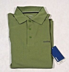 REEBOK-PLAYDRY-PIQUE-SHIRT-GOLF-RUGBY-POLO-WOMEN-039-S-M-GREEN-GRAY-LOGO-NWT-29-99