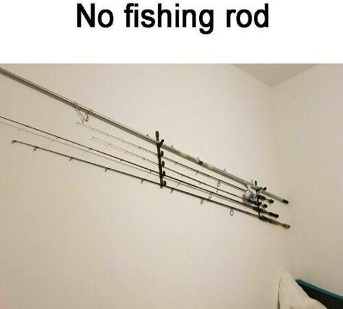 HORIZONTAL MOUNTED FISHING ROD HOLDER STORAGE RACK Hold to 10 RODS WALL MOUNT