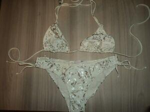 Sundek Femme Couleur Femme Blanc Taille Bikini 44 Argent Et nxzzv