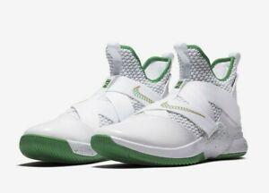 buy popular 3a0b5 786b0 Details about Nike LeBron Soldier XII 12 IRISH HOME Basketball Shoes MENS  SZ 10 NEW!
