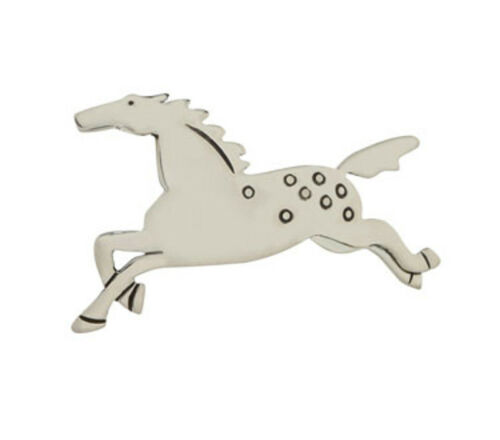 Far Fetched Full Gallop HORSE PIN Brooch STERLING SILVER Fair Trade Gift Boxed