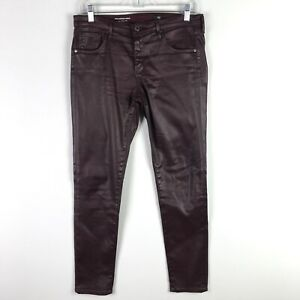 AG-Adriano-Goldschmied-Purple-The-Legging-Ankle-Coated-Skinny-Jeans-Size-29-R