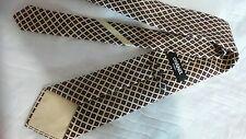 Chanel Paris French luxury Silk Diamond Pattern  CC Logo Tie, Multi Color EUC