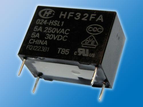 8x Relais hf32fa//024-hsl124vdc5a//250vacparticulièrement compacte dimensions