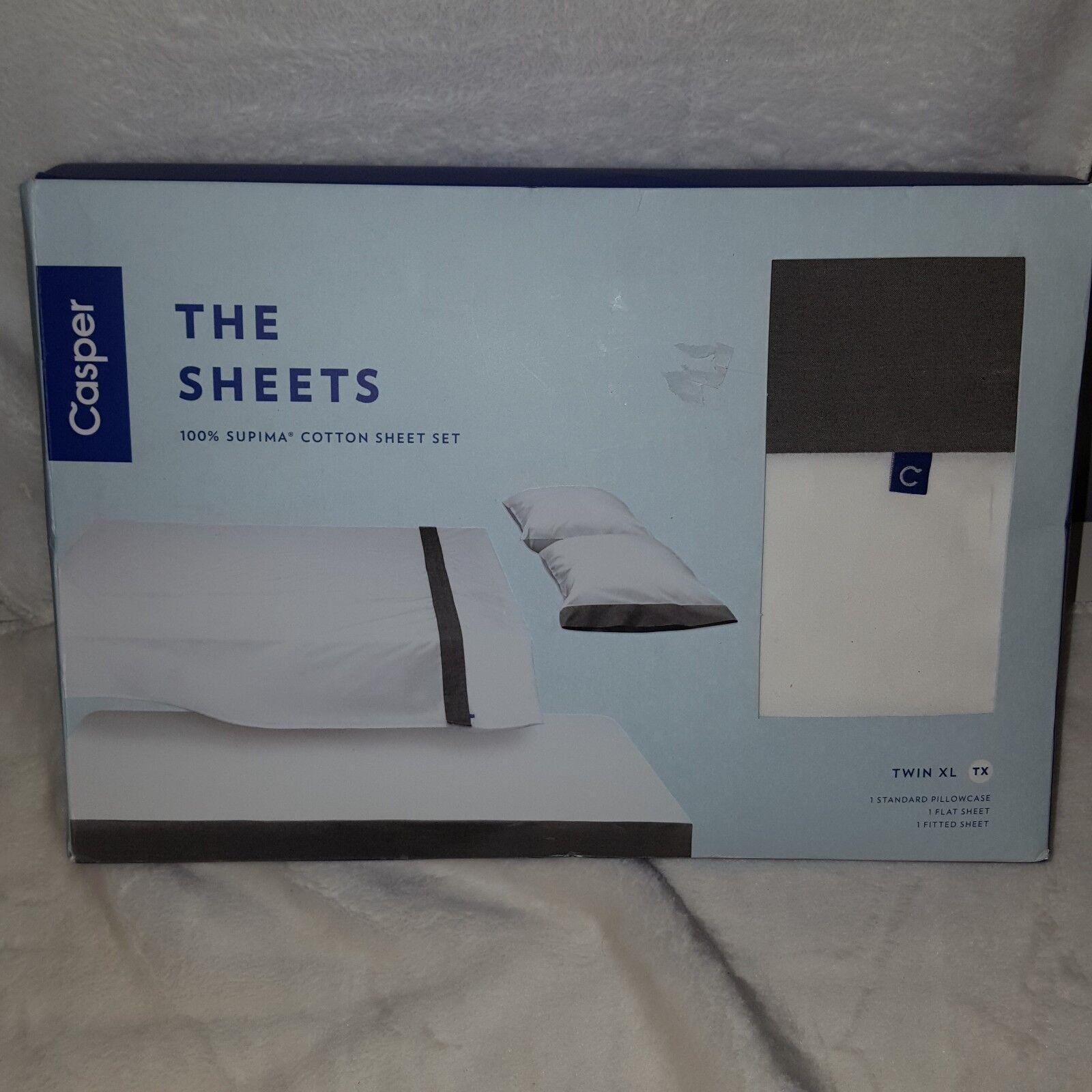 Casper The Sheets Sheet Set Twin XL Pillowcase, Flat Sheet, Fitted Sheet