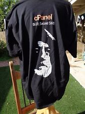 Size XXL 2XL Computer Geek Nerd Techy CPanel Ob10/Second Shift Black T-Shirt
