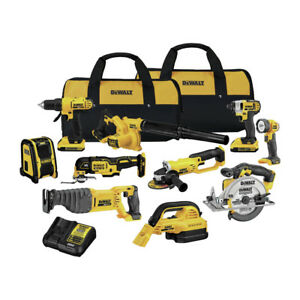 DEWALT-20V-MAX-Lithium-Ion-10-Tool-Combo-Kit-DCK1020D2-New