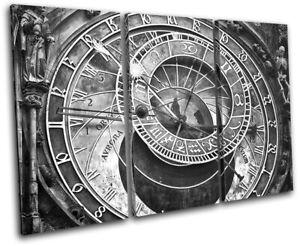 Prague-Astronomical-Clock-Czech-City-TREBLE-CANVAS-WALL-ART-Picture-Print