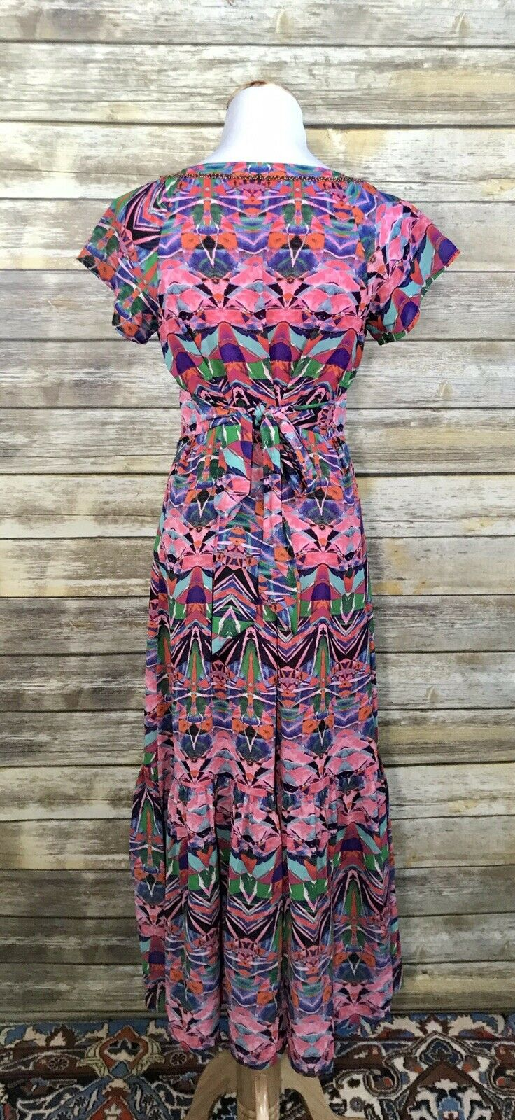 Anthropologie Vanessa Virginia Mural Maxi Dress Sz 2 2 2 Beaded  188 73da40
