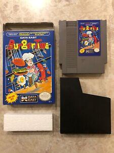 BugerTime-Nintendo-Entertainment-System-Nes-Cartridge-w-Box