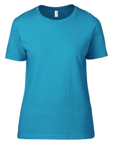 Anvil Damen T-Shirt WOMENS LIGHTWEIGHT T Rundhals Kurzarm S M L XL XXL Neu A880