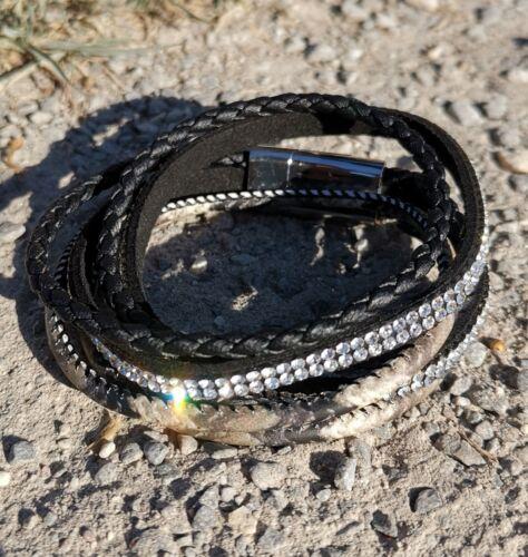 Wickelarmband 39cm Camouflage Look Magnetverschluss Boho Style 10/% ab 2 Stück!