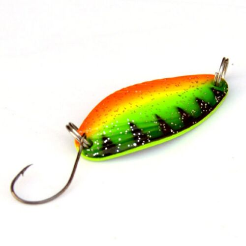 Colorful Metal Fishing Spoon Lures Spinner Tackle Baits Bass Set Crankbait