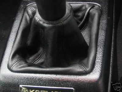 ***TOYOTA MR2 MK2 BLACK LEATHER GEAR GAITER//BOOT 89-99