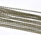 10M Chaîne Maille Forçat Pour Collier Bracelet Bijoux Accessoire Bronze 3x2mm