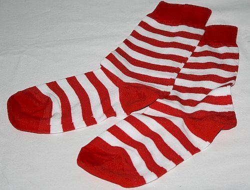 Kinder Damen Ringel Socken unisex rotweiß geringelt Gr Helau 39-42 19021819