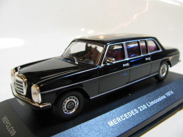 1 43 Mercedes Benz 230 Limousine (1974) black diecast