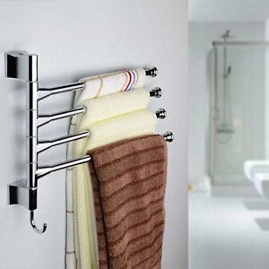 BATHROOM-STAINLESS-STEEL-TOWEL-RAIL-RACK-SHELF-BAR-SHINE-SHELF-HANGER-3-4-SWIVEL