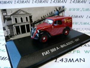 PIT66D-voiture-1-43-Altaya-IXO-Fourgonette-ITALIE-FIAT-500-A-Velo-Malaguti-1947
