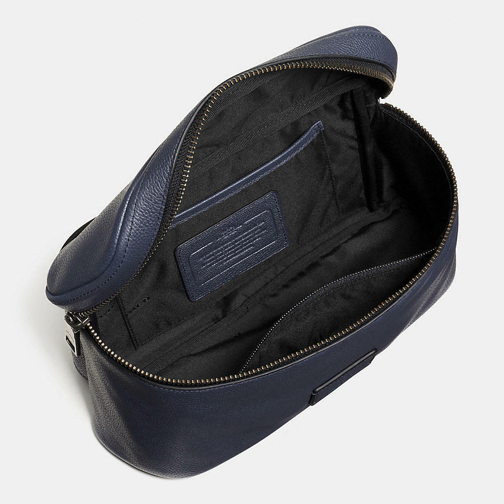 f65dcfabe856 MWT Coach Men  Pebble Leather Campus Sling Bag F71902 Midnight Blue ...