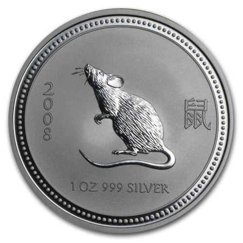 2008 Australia 1 oz Silver Year of the Mouse BU SKU #26705 Series I