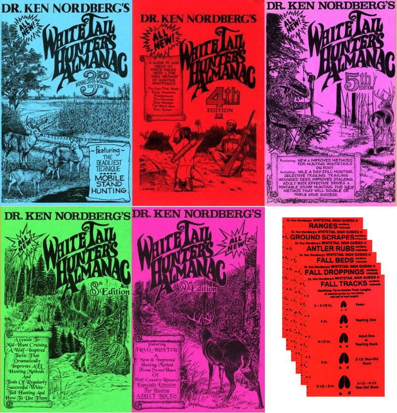 Dr. Ken Nordberg The WhiteTail Hunter's Almanacs—3, 4, 5, 8 & 9_Plus Sign Guides