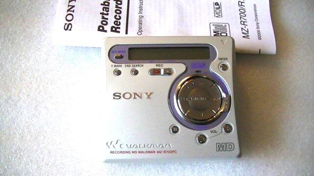 VINTAGE SONY MD MINIDISC WALKMAN RECORDER MZ-R700PC