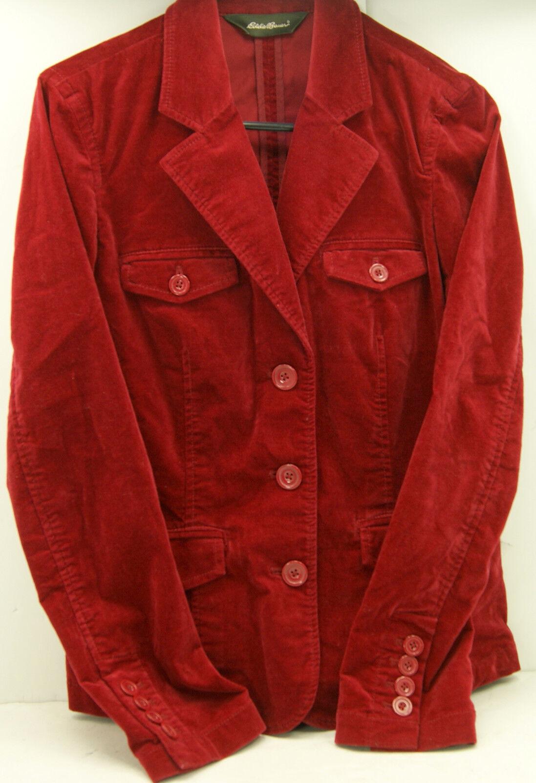 Eddie Bauer Red Velvet Women's Jacket Blazer Size… - image 1