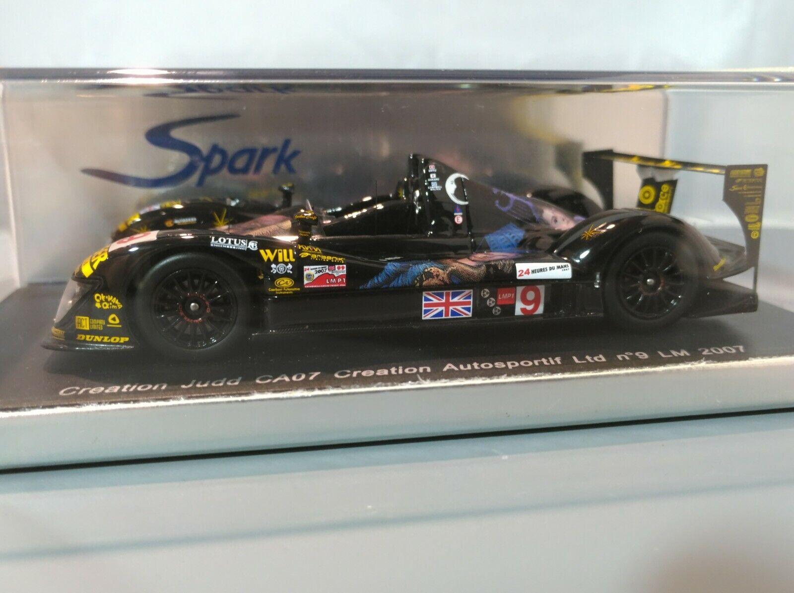 SPARK 1 43 Création CA07 Creation Judd LMP1 2007 LeMans 24 H  9 WEC S1420 RARE