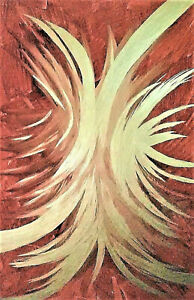 PAINTING,TITLE;'LIGHT!',CONTEMPORARY ABSTRACT, MIXED,CANVAS BOARD-FREE SHIP