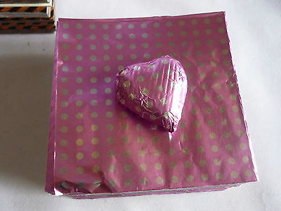 50 Foil Square Wrappers for Chocolate & Sweets. 80mm x 80mm. Patterned Designs