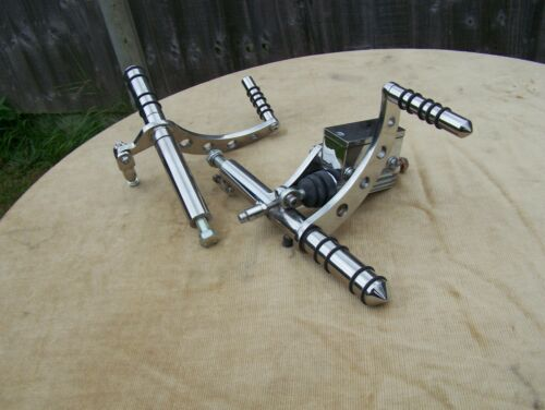 Stainless steel universal forward controls Mk 4 forward mount
