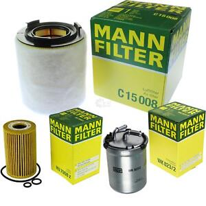 MANN-FILTER-Paquete-Filtro-de-aceite-del-Aire-combustible-VW-POLO-6r-1-6-TDI