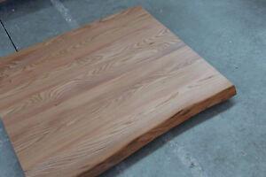 Rüster Holz tischplatte platte ulme rüster massiv holz mit baumkante