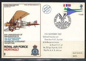 Grande-Bretagne-Royal-Air-Force-FDC-U-K-International-Air-Mail-Service-1969