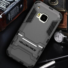 Genuine YELLOW-PRICE Hybrid Armor Stand Case Hard Soft Cover for HTC ONE M9 2015