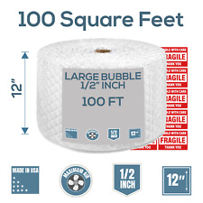 Bubble Cushioning Wrap 100 Ft X 12 Perforated Every 12 12 Large Bubble