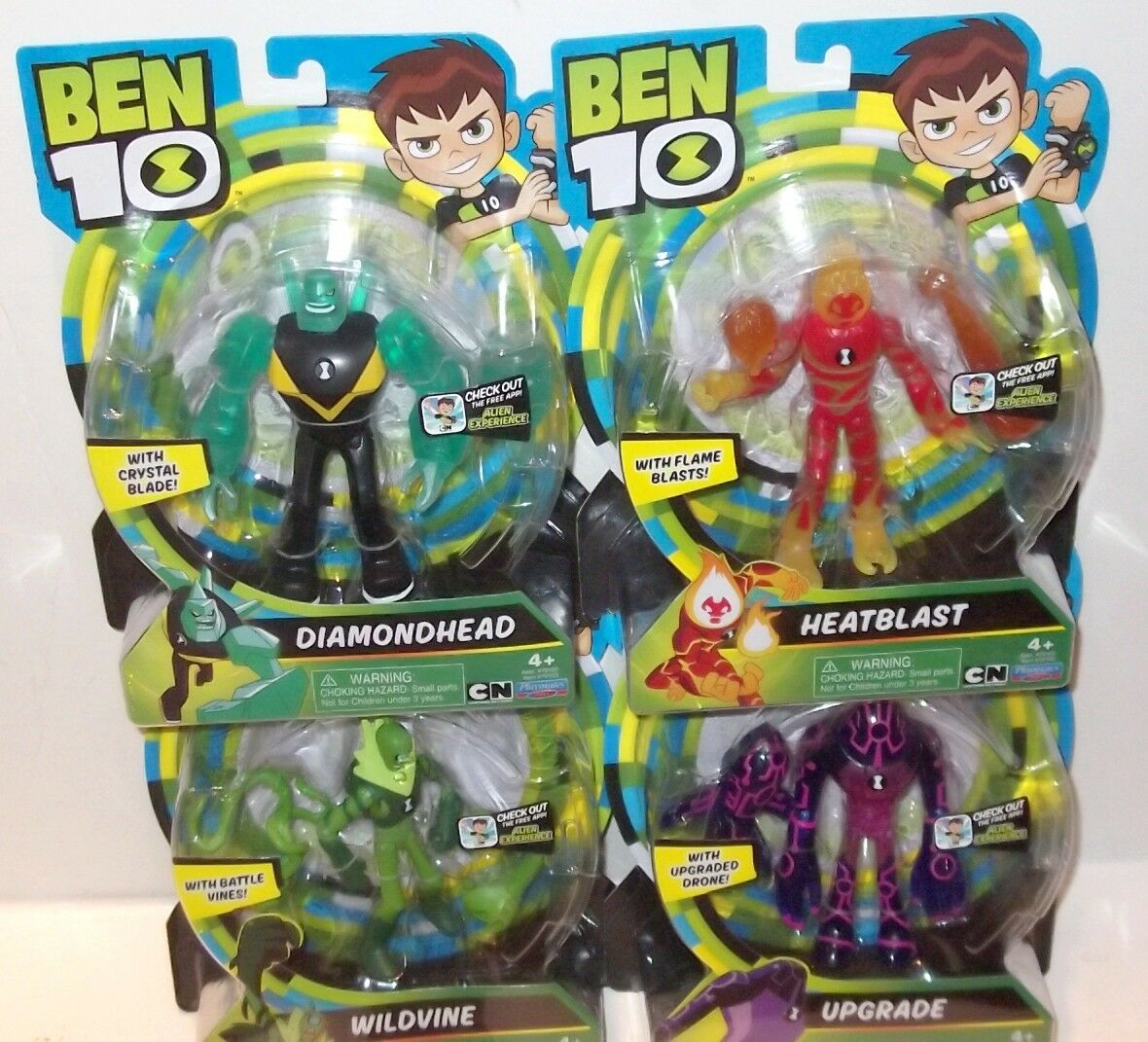 LOT ✰ Ben 10 WILDVINE UPGRADE HEATBLAST DIAMONDHEAD 5