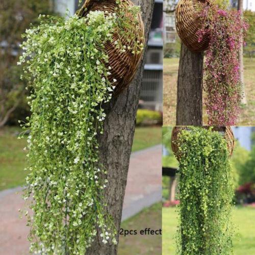 Hanging Ivy Garland Plants Vine Plastic Foliage Osier Wisteria Home Decor NEW
