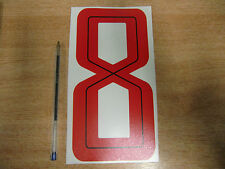 GUY MARTIN race number 8 - Red & Black Sticker / Decal LARGE 200mm