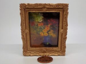 1:12 Scale Framed Picture of a sitting lady tumdee Dolls House Miniature Print