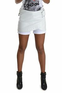 belt Look Skirt Leather Brand Nappa New Skelt Mini wT6qZE