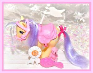 My-Little-Pony-MLP-G1-Vtg-1982-Show-Stable-Lemon-Drop-Collectors-Pose-Saddle