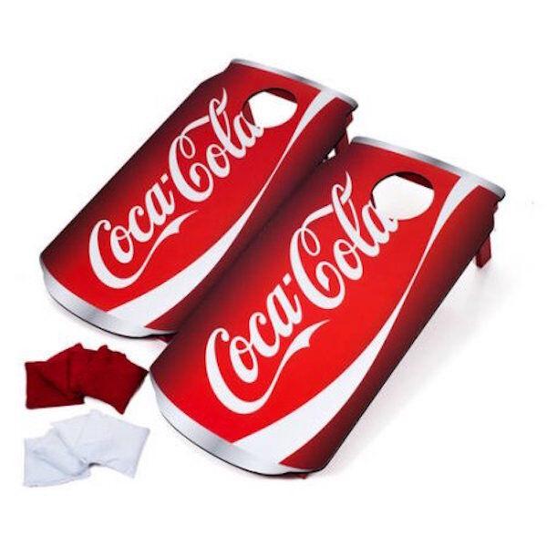 Coca Cola Coke Corn hole Bean Bag Toss Cornhole Graduation Beach Game Portable