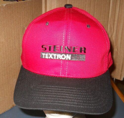 STEINER TEXTRON RED BLACK HAT/CAP ADJUSTABLE ONE S